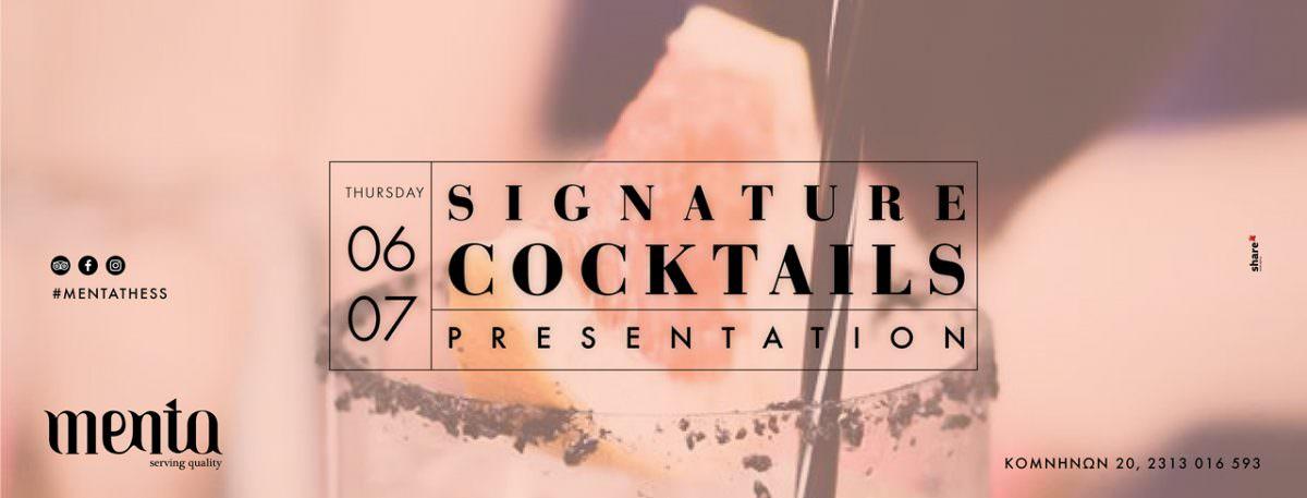 Signature Cocktails Presentation // 06.07 menta
