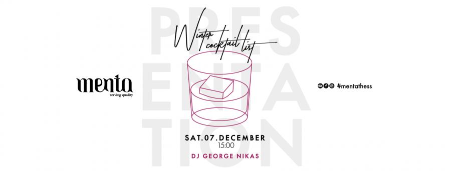 Winter Cocktail List ~ Presentation